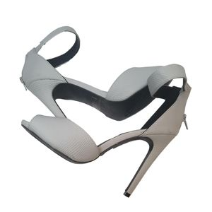 Qupid Grey Ankle Strap Heel Size 9